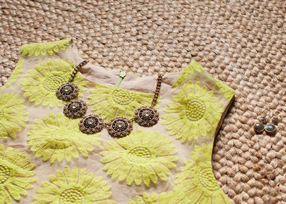 sheinside sunflower dress