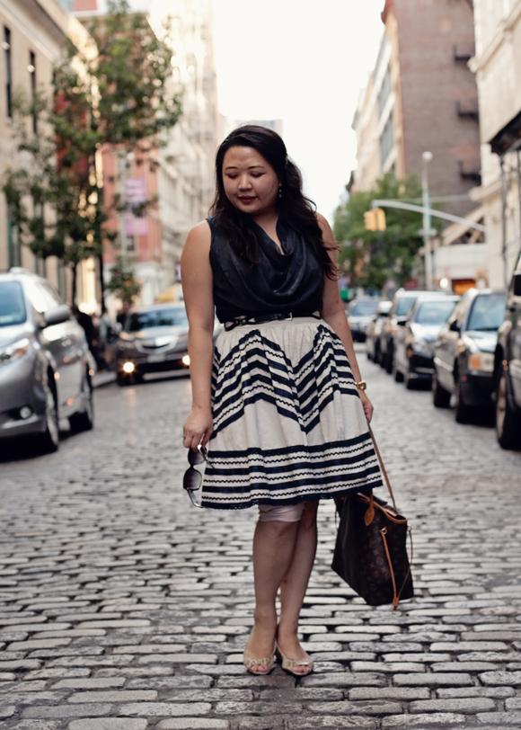 fashion blogger modern vintage summer style in soho