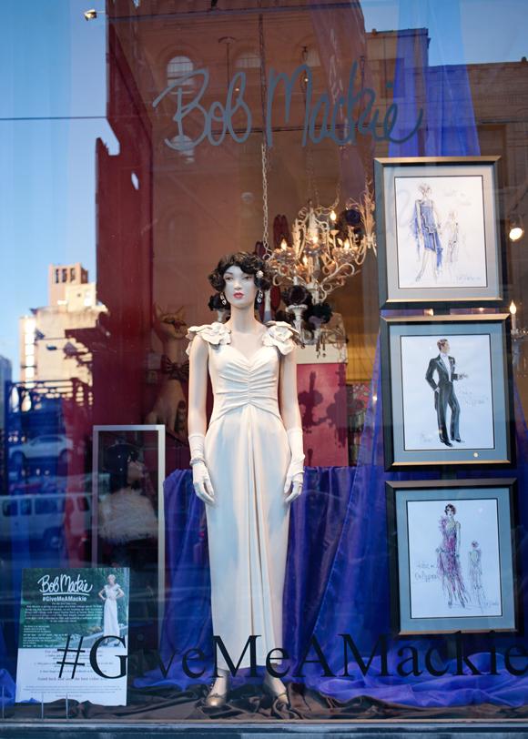 screaming mimis givemeamackie bob mackie vintage dress