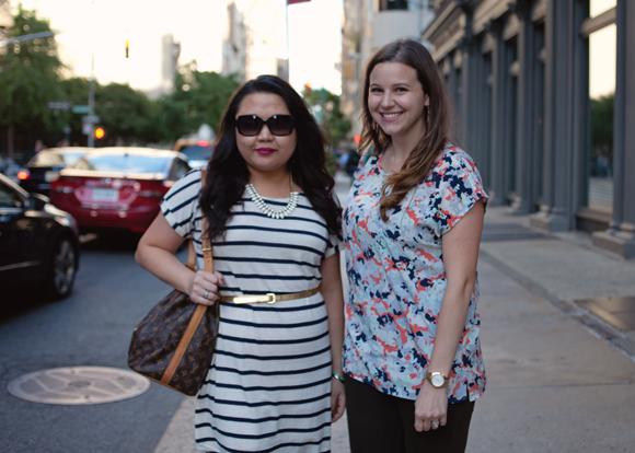 fashion bloggers on the street in flatiron