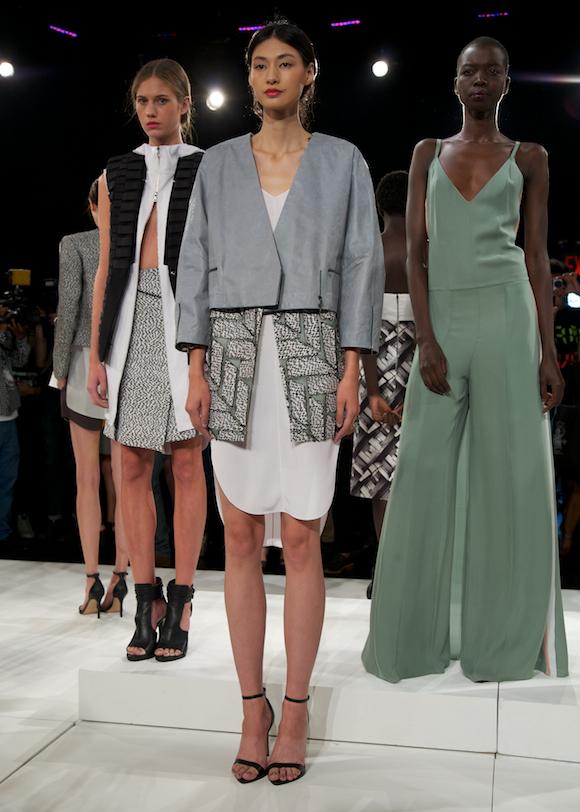 Seafoam, white and geometric trends at Brandon Sun Spring 2014