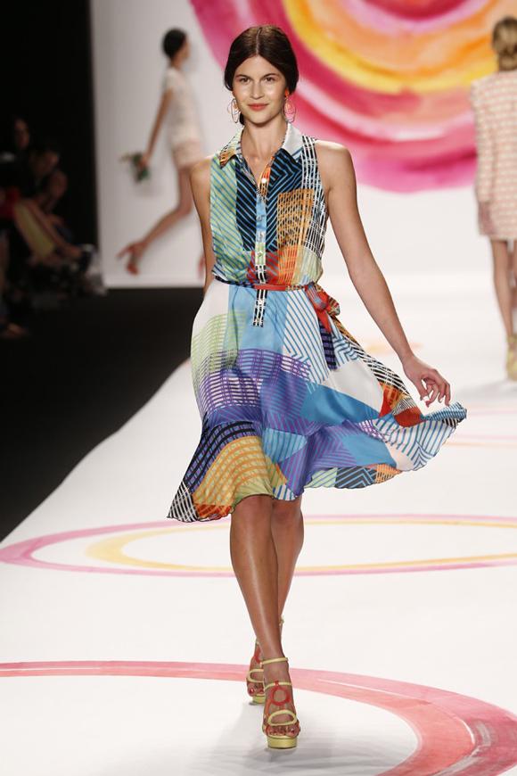 desigual spring 2014 geometric print dress