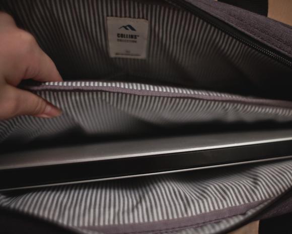 brenthaven collins slim brief with macbook pro 15 in