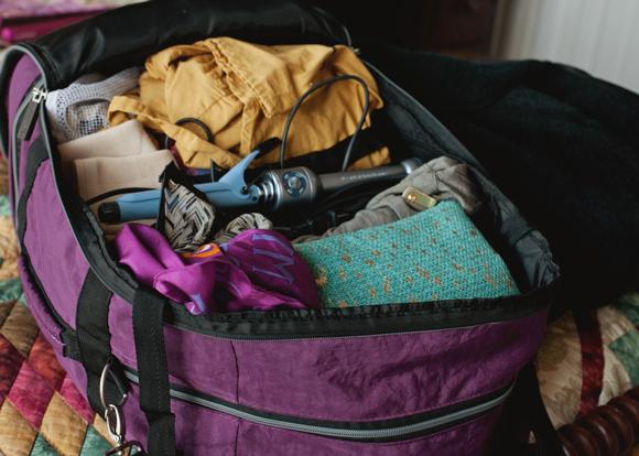 biaggi zipsak fold away luggage all packed up