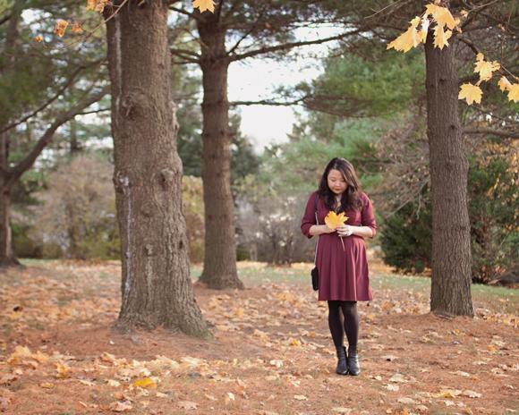 fall fashion eshakti fit and flare dress