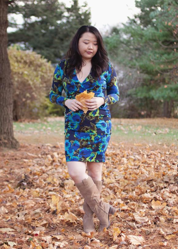 fall fashion blue floral von vonni dress