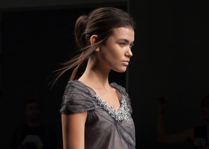 3D Printed embellishment at Katya Leonovich Spring 2015 | New York Fashion Week