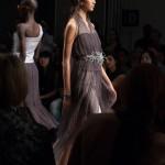 Sheer 3D printed embellished dress at Katya Leonovich Spring 2015 | New York Fashion Week