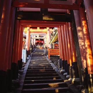 Red Torii at Fushimi Inari-taisha, Kyoto, Japan