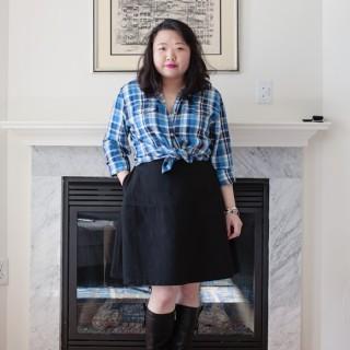 Jachs New York Skylar Shirt and Reiss Hayden Circle Skirt