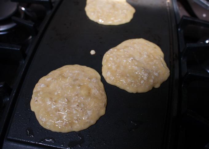 cooking gluten free dairy free pancakes