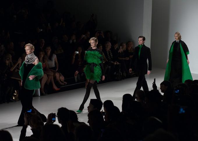 the runway at fashion week