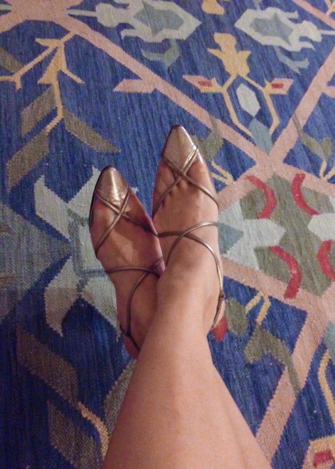 vintage ysl sandals