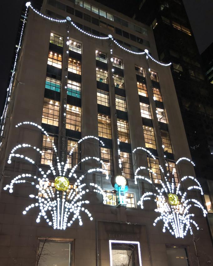 Holiday lights at Tiffany